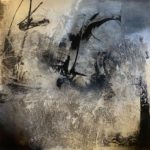 Signum 2 by Carole Kohler - Series Signum - H140 * W140 * W4.5 cm - Mixed media on canvas